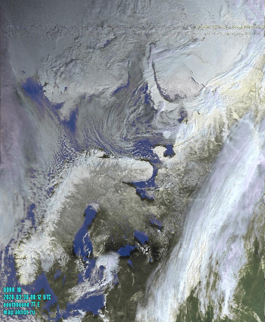 Спутниковые снимки погоды NOAA